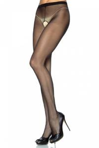 Leg Avenue Sheer Crotchless Pantyhose Gr.L-XL