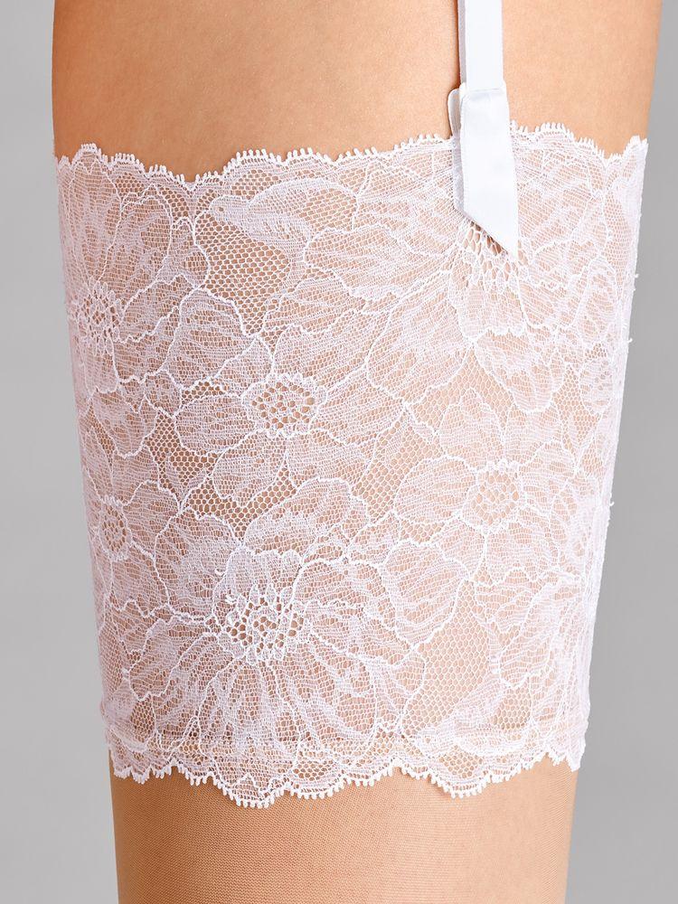 Wolford Lace Stockings, Strapsstrumpf, Strumpf zum Einhängen – Bild 2