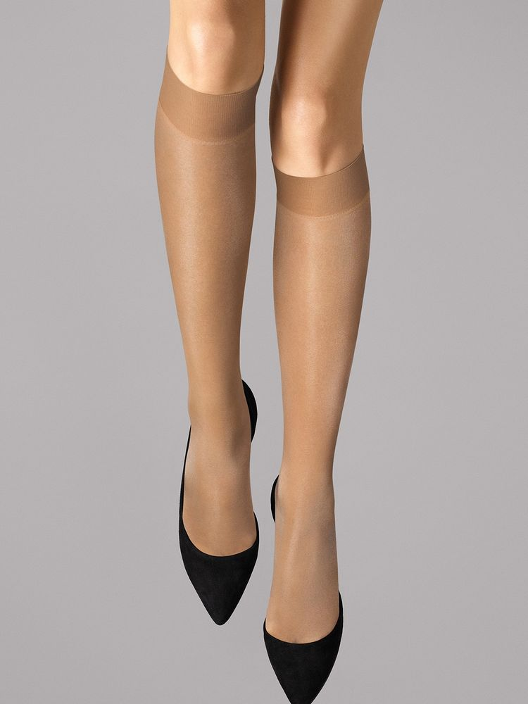 Wolford Kniestrümpfe Satin Touch 20, Knee-highs – Bild 6