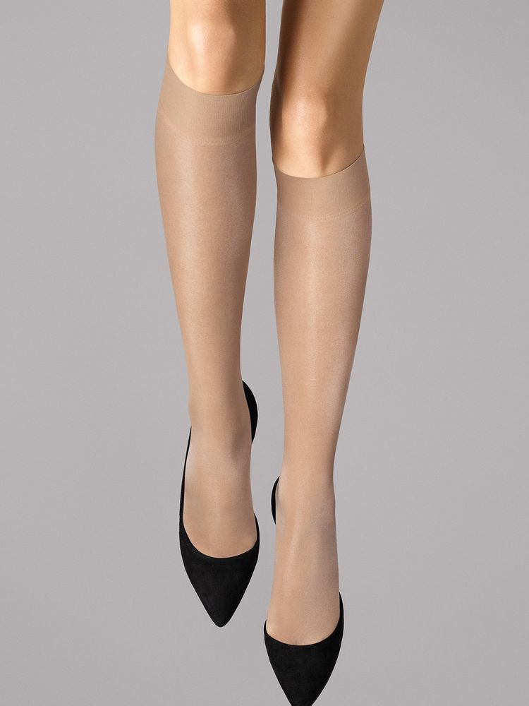 Wolford Kniestrümpfe Satin Touch 20, Knee-highs – Bild 3