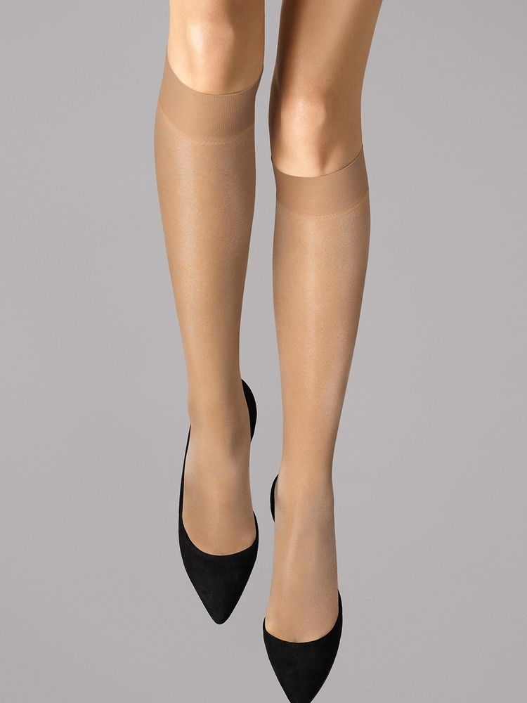 Wolford Kniestrümpfe Satin Touch 20, Knee-highs – Bild 5