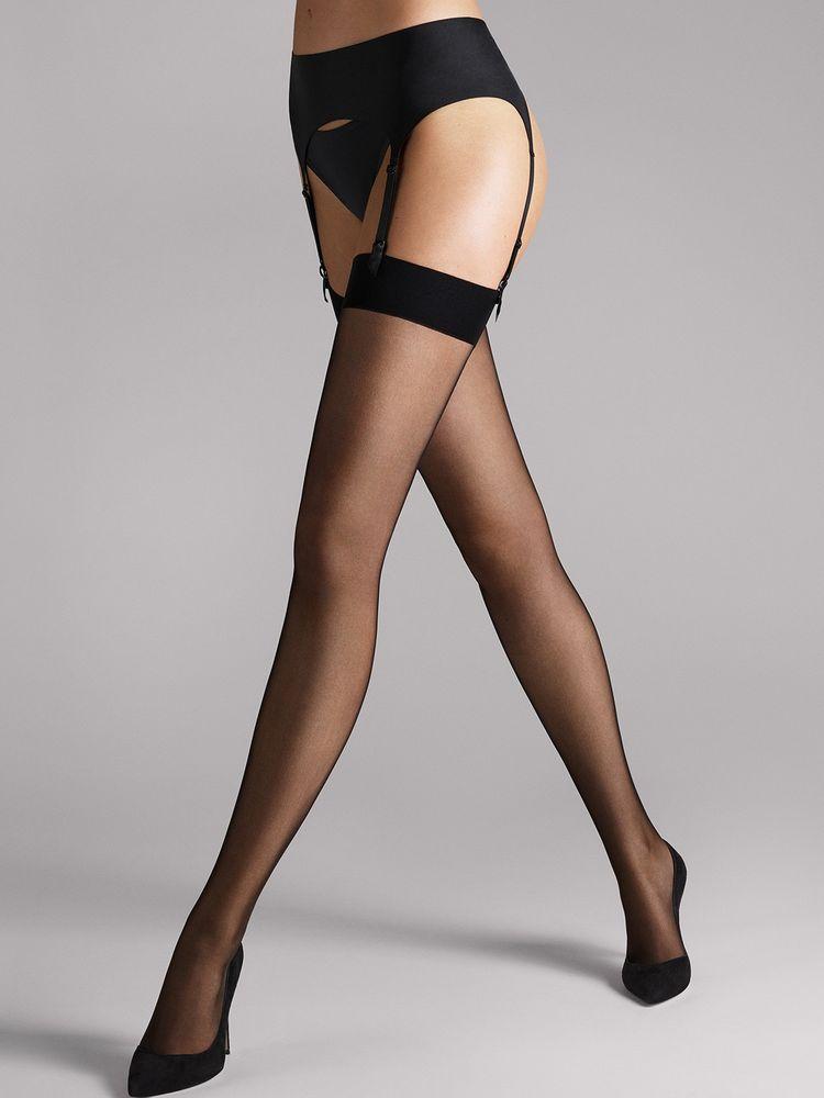 Wolford Individual 10, Stockings, Strapsstrümpfe, Strumpf zum Einhängen – Bild 1