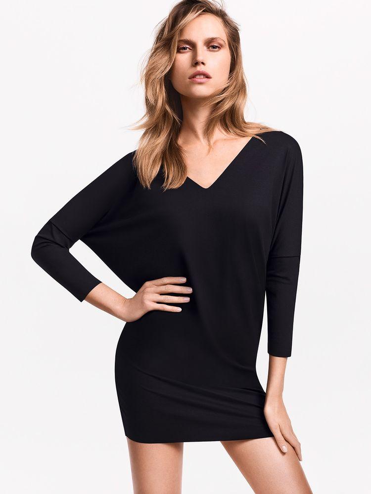 Wolford Pure Cut Dress, Kleid + Long-Shirt, variabel tragbar – Bild 1