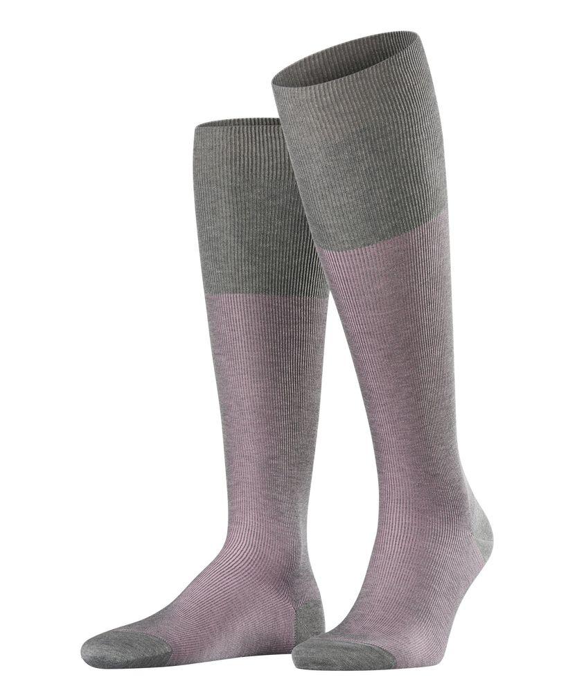 FALKE Fine Shadow Herren Kniestrümpfe fein gerippte zweifarbige Business Socken #15741 – Bild 6