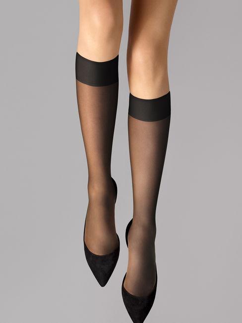 Wolford Sheer 15 Knee-Highs 15 DEN transparente Kniestrümpfe – Bild 1