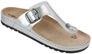 Rohde Riesa 5804 Damen Sandale Zehentrenner 89 Silber