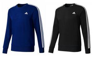adidas Essentials 3S Crew French Terry Sweatshirt Blau Schwarz