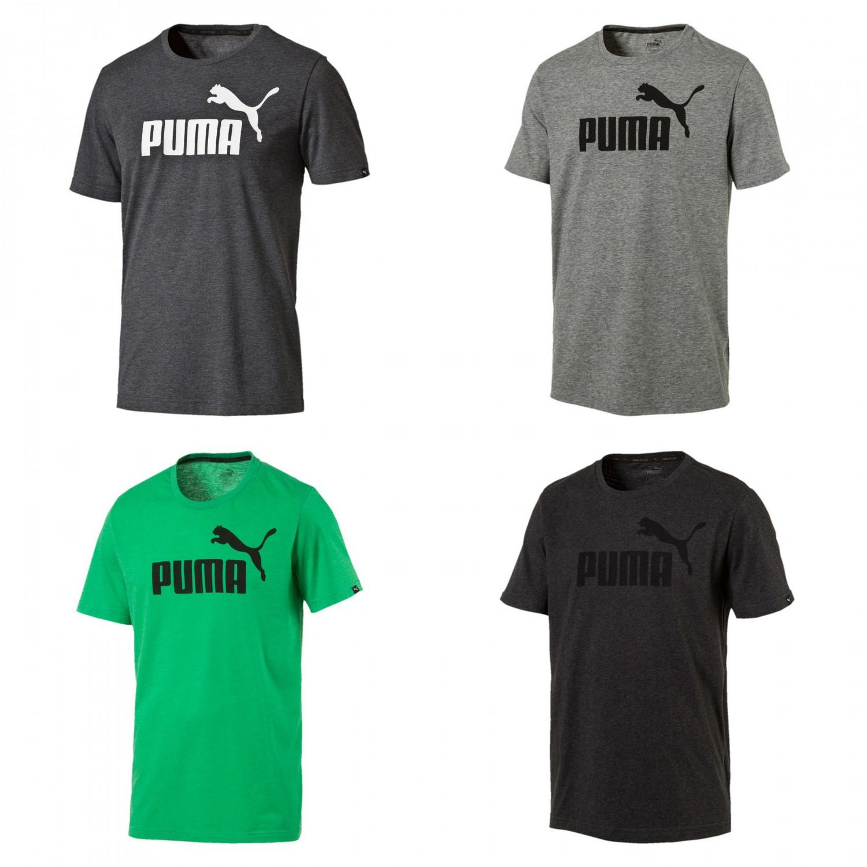 7e45ca43 Details about Puma Men's Ess No.1 Heather T-Shirt/T-Shirt 838243 Dry Cell  Black Gray