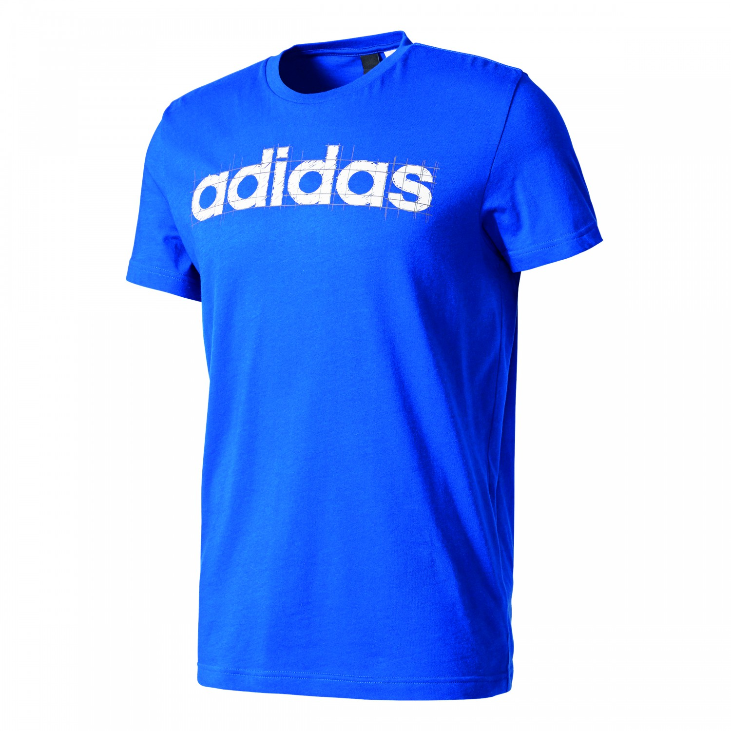 adidas herren linear tee t shirt bk2785 collegiate royal. Black Bedroom Furniture Sets. Home Design Ideas