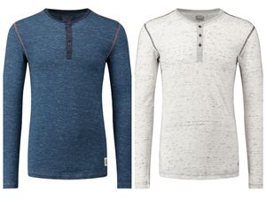 LEVIS 300LS Tri-Blend Long Sleeve HENLEY Langarm Shirt