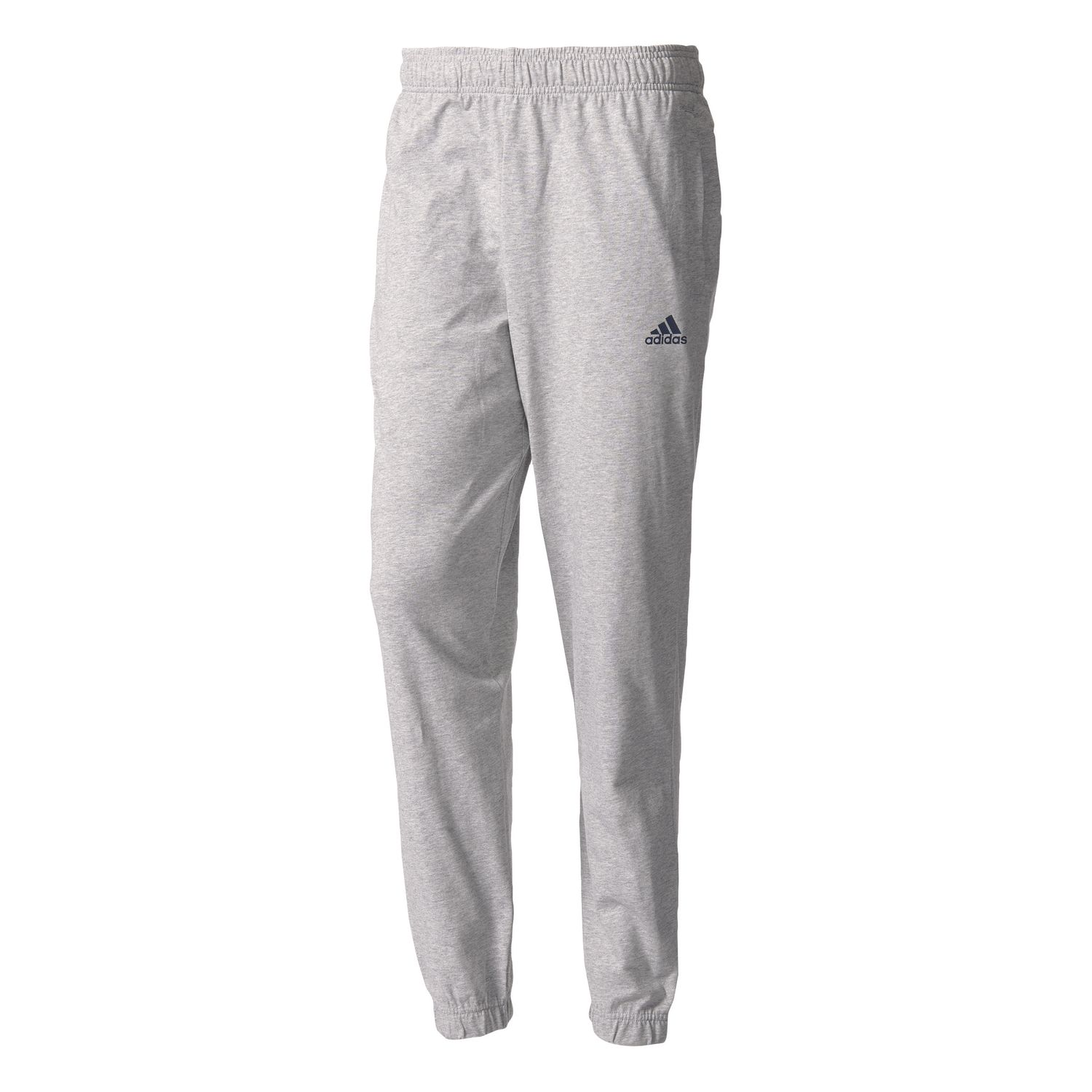 6177428889cfc7 adidas Essentials Tapered Banded Single Jersey Pant Trainingshose BK7406  Grey