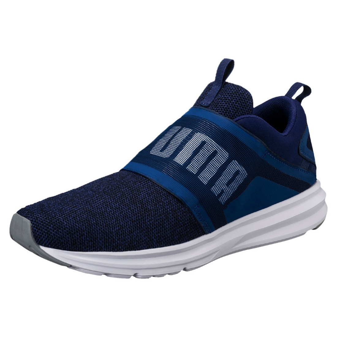 c777a8708acf Enzo strap knit PUMA running shoes vintage shoes 190029 blue depths special  price