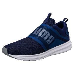 Puma Enzo Strap Knit Laufschuhe Vintage Schuhe 190029 Blue Depths