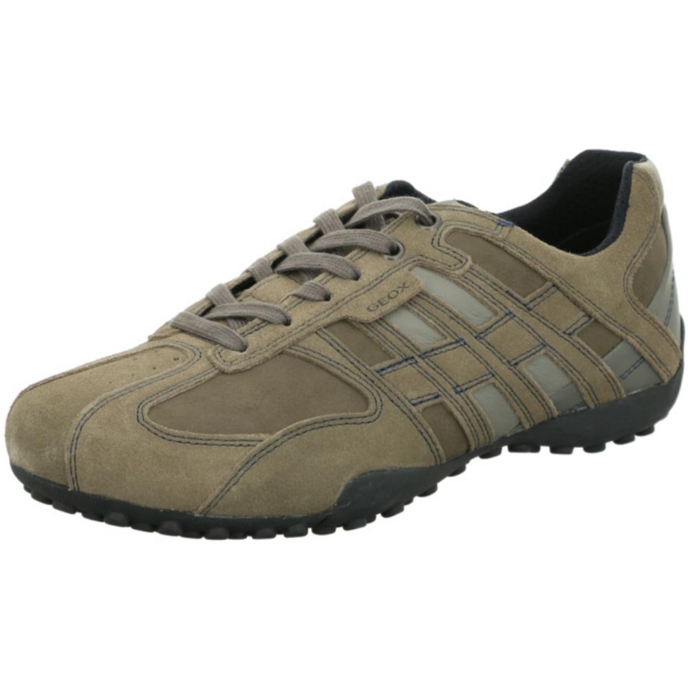 heiß-verkaufende Mode guter Service feinste Auswahl Details about Geox Respira Uomo Snake K Men's Sneakers Shoes Low Shoes Grey  Sale