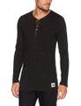 LEVIS 300LS Tri-Blend Long Sleeve HENLEY Langarm Shirt  Schwarz