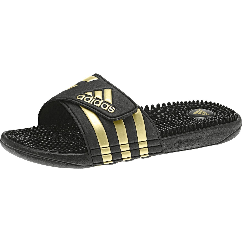 5591ef9d15bda adidas Adilette Adissage bathing sandal massage sandal-black gold CM7924