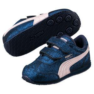 Puma Whirlwind Glitz V PS Kinder Mädchen Schuhe Sneaker Sargasso Sea