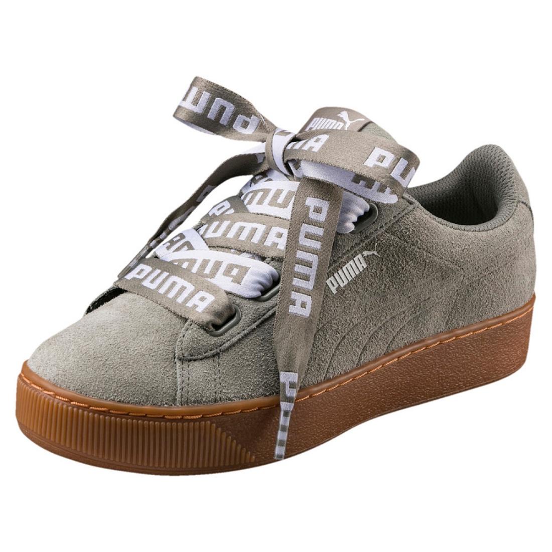 Détails sur Puma Vikky Platform Ribbon Bold Sneaker Femmes Chaussures 365314 Rock Ridge afficher le titre d'origine