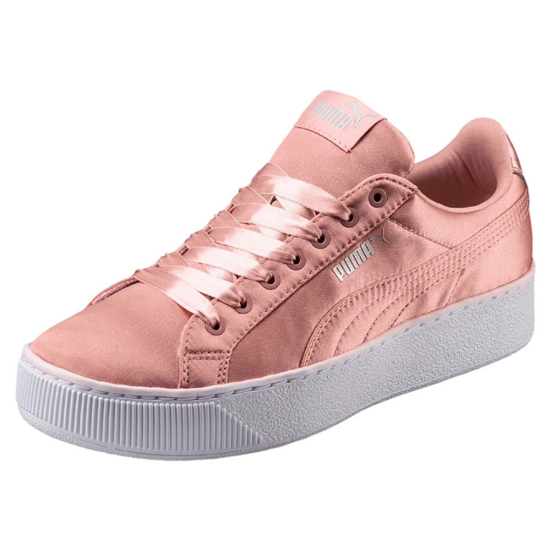 7cf491fb0cb8 Details about Puma Vikky Platform Ep Ladies Sneaker Shoes 365239 Peach  Beige Sale