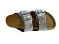 Rohde Alba 5614 Damen Hausschuhe Sandale Pantolette Altsilber