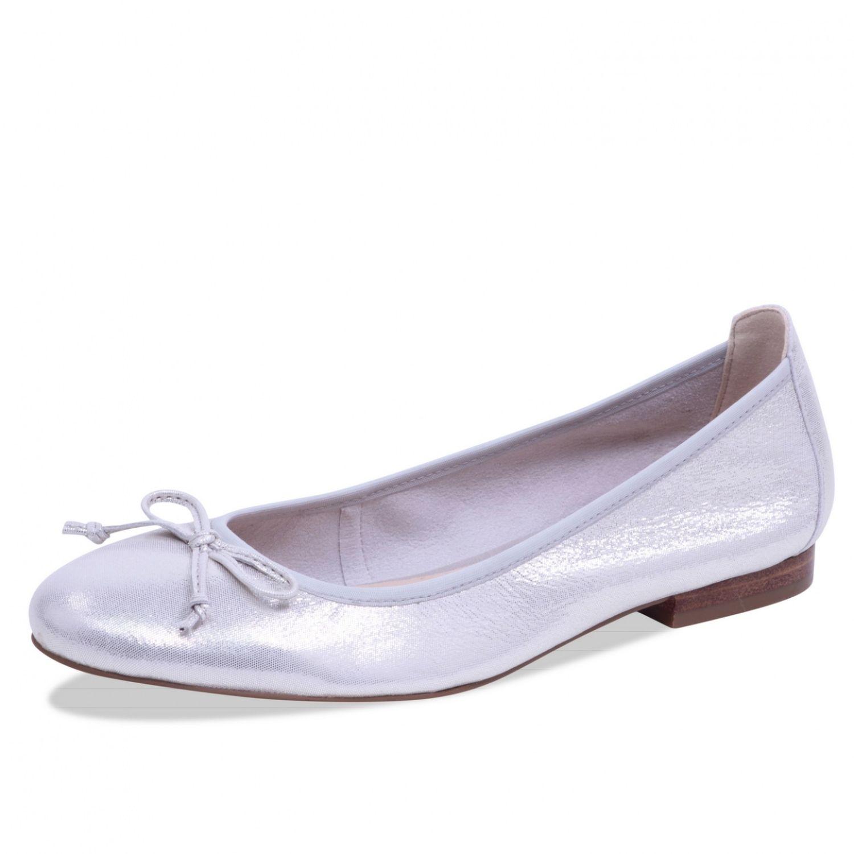 CAPRICE Klassische Damen Ballerina Slipper 22102 Offwhite