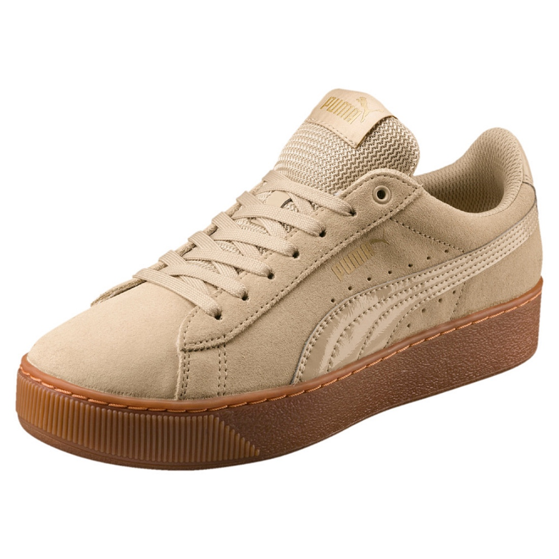 193d4b291218 Details about Puma Vikky Platform Ladies Sneaker Shoes 363287 Pebble Offer