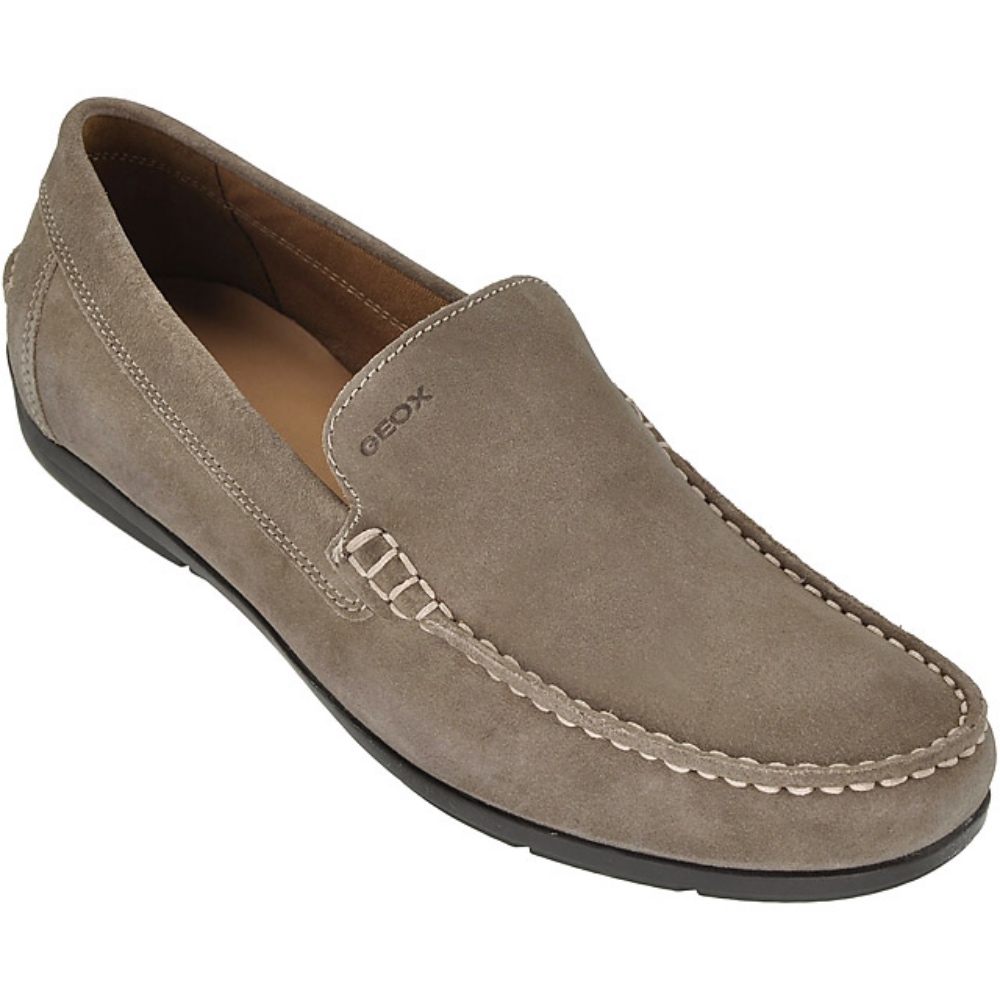 c2cc595bc148c Details about Geox Respira Siron a Men's Shoes Moccasin Slippers Taupe  U32q3a Size 41 Offer