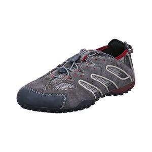 Geox Respira Uomo Snake J Herren Sneakers U4207J Schnellschnürung DK Grey Ruby