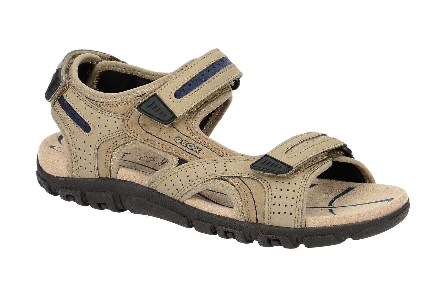 0cc5aabfd51 Details about Geox Repsira Uomo Sandal Strada D Men s Sandals U8224D Sand