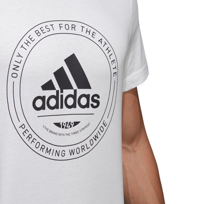 adidas Adi Emblem White Mens Clothing CV4515