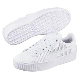 Puma Vikky Platform EP Q2 Damen Sneaker Schuhe 366455 Weiß