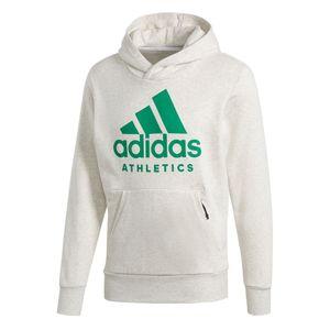 adidas Essentials SID BRANDED P/O Sweatshirt / Hoodie Kapuzenshirt CF9555 White Melange
