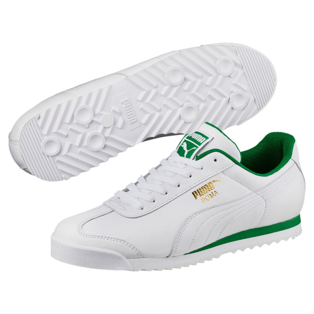 bastante baratas compra genuina mujer Puma Roma Classic Trainers Shoes 365598 Puma White Amazon Green | eBay