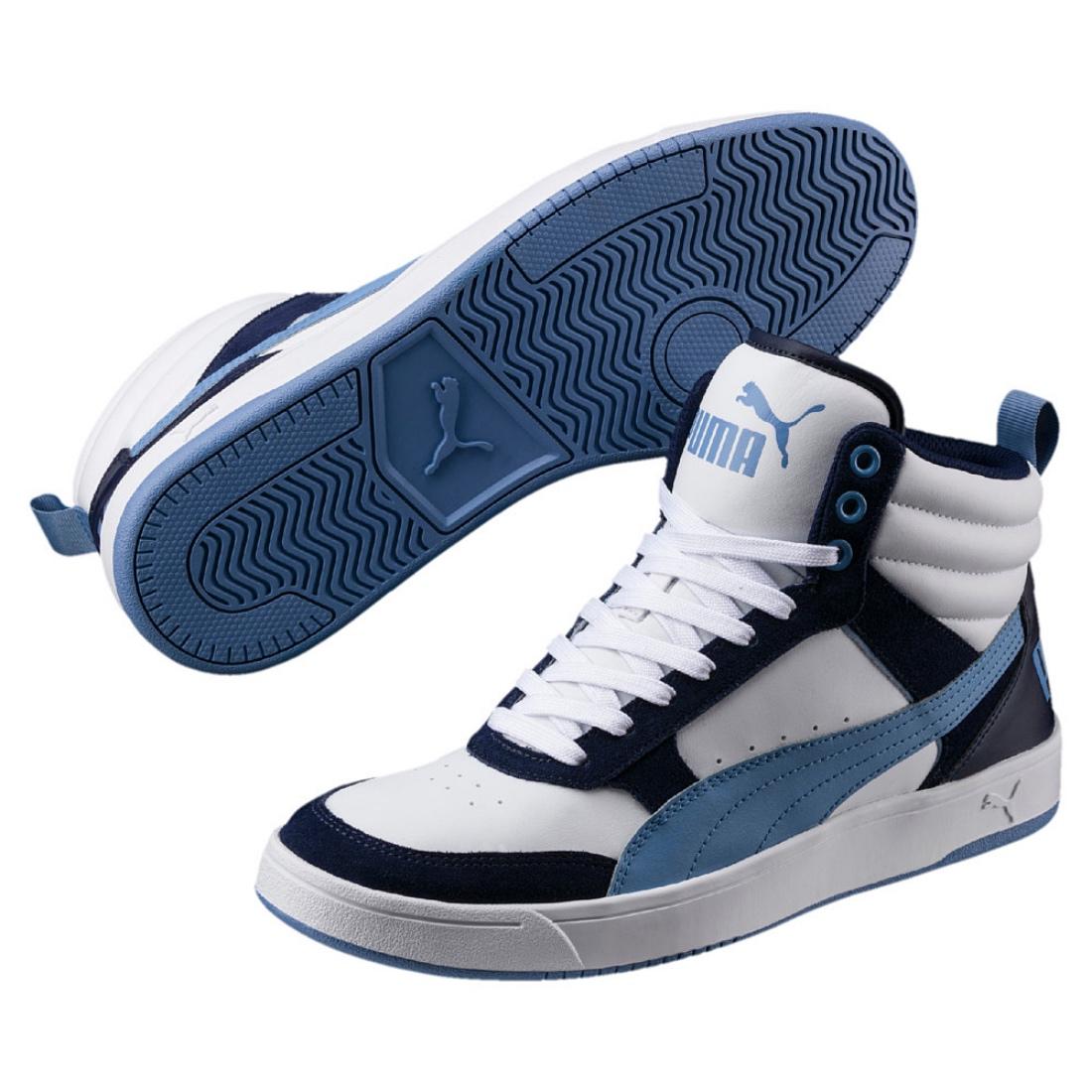 PUMA Rebound Street v2 Mid Scarpe Sneaker 363715 PUMA WHITE ALLURE Peacoat