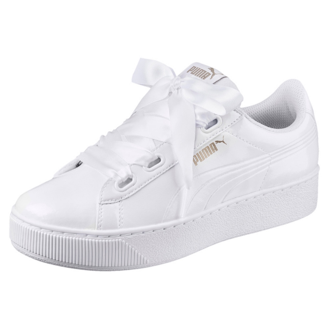 Details zu Puma Vikky Platform Ribbon P Damen Sneaker Schuhe 366419 Weiß  Lack