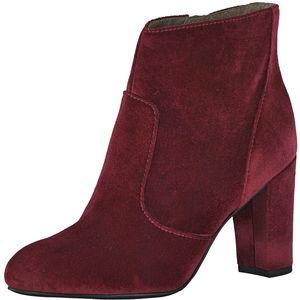 s.Oliver Damen Stiefeletten Boots Samt Softfoam 25300 Dark Red