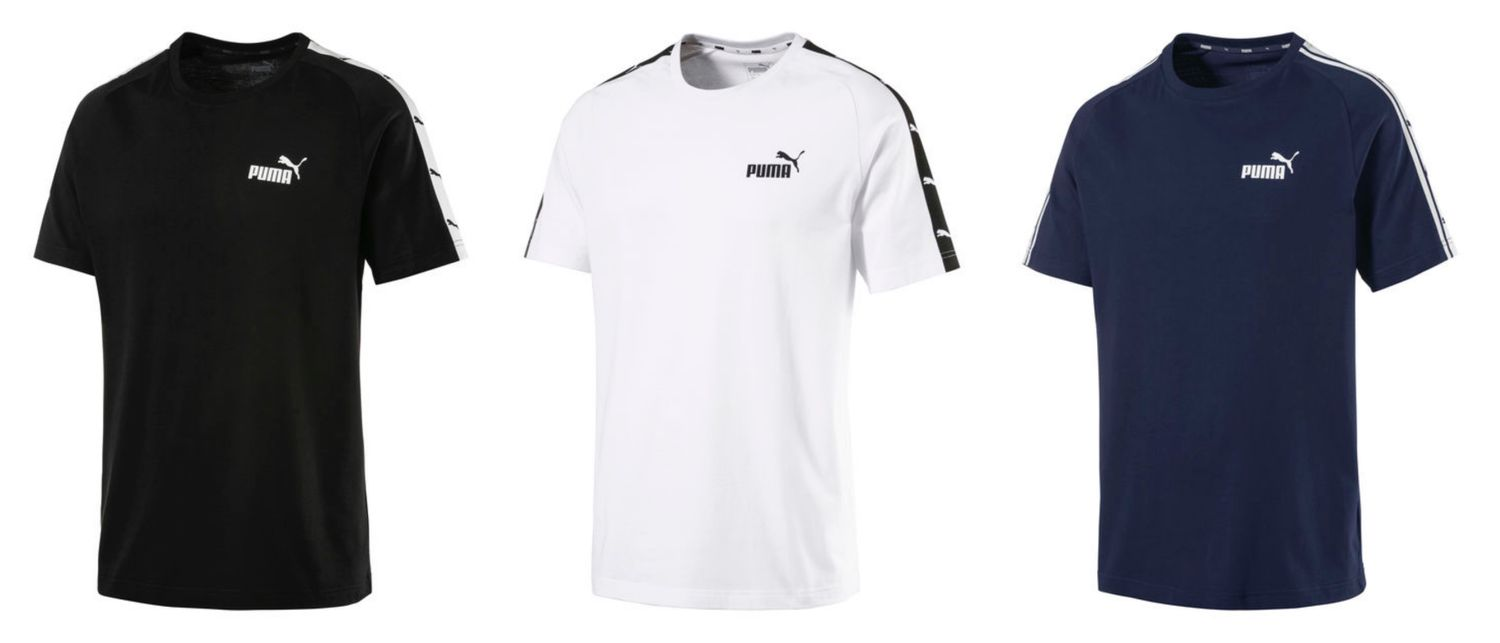 Details about Puma Men's Heritage Tape T Shirt short Sleeve T Shirt 853106