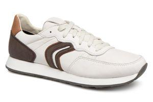 Geox Respira VINCIT C Herren Schuhe Sneaker Halbschuhe U845VC White / Dk Coffee