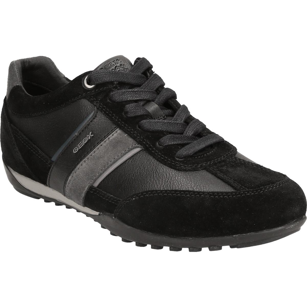 Details zu Geox Respira Herren U Wells C Low Top Sneakers Schuhe Halbschuhe U52T5C Schwarz