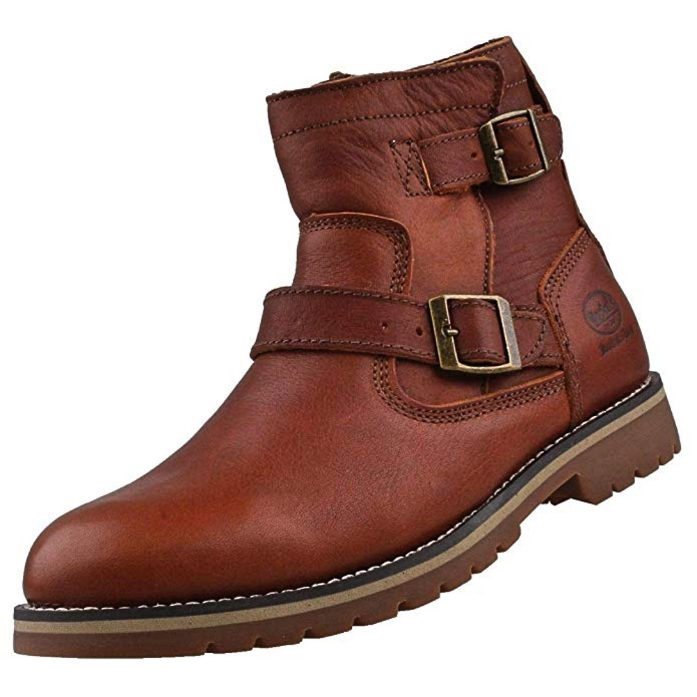 a929fc6dccb Details about Dockers by Gerli 39WI111 Men s Biker Boots Ankle Boots  Leather Warm Padding