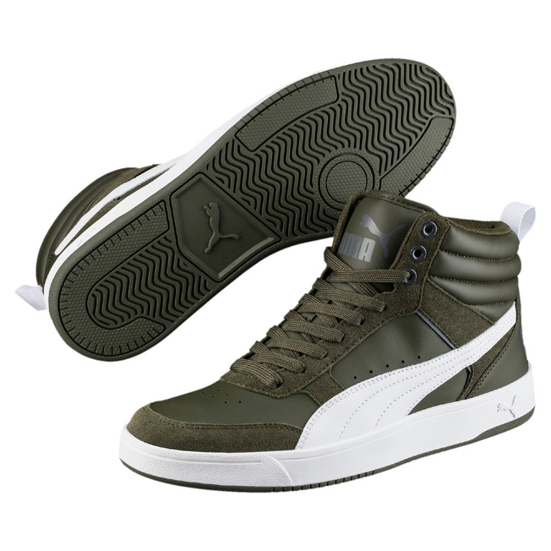 Details about Puma Rebound Street v2 mid Shoes Trainers 363715 mid Cut  Forest Night 292685e9f1b0b