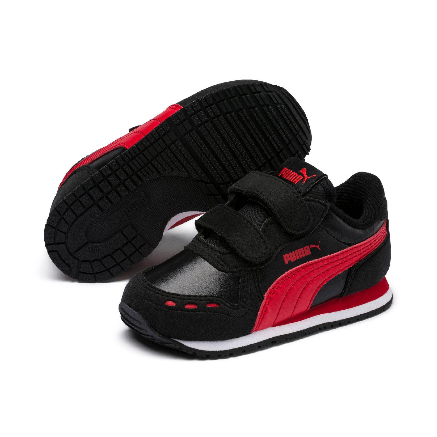 1feaae09b6 Details about Puma Cabana Racer Sl V Inf Children Shoes Trainers 351980 Puma  Black Red