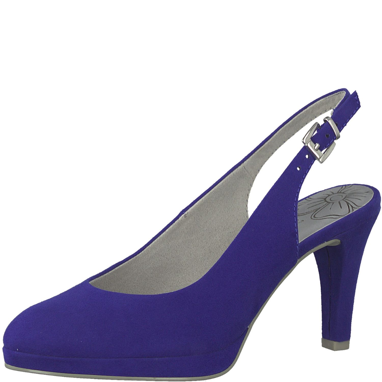 599ad88d08 Marco Tozzi 29603 Classic Elegant Women's Slingback Court Shoes Blue ...