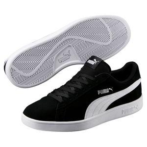 Puma Smash v2 Unisex Erwachsenen Sneaker Turnschuhe Retro Look 364989 Puma Black