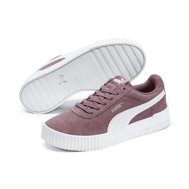 Details about Puma Carina SD Womens Street Sneaker Clubwear Leather 369864 Elderberry show original title