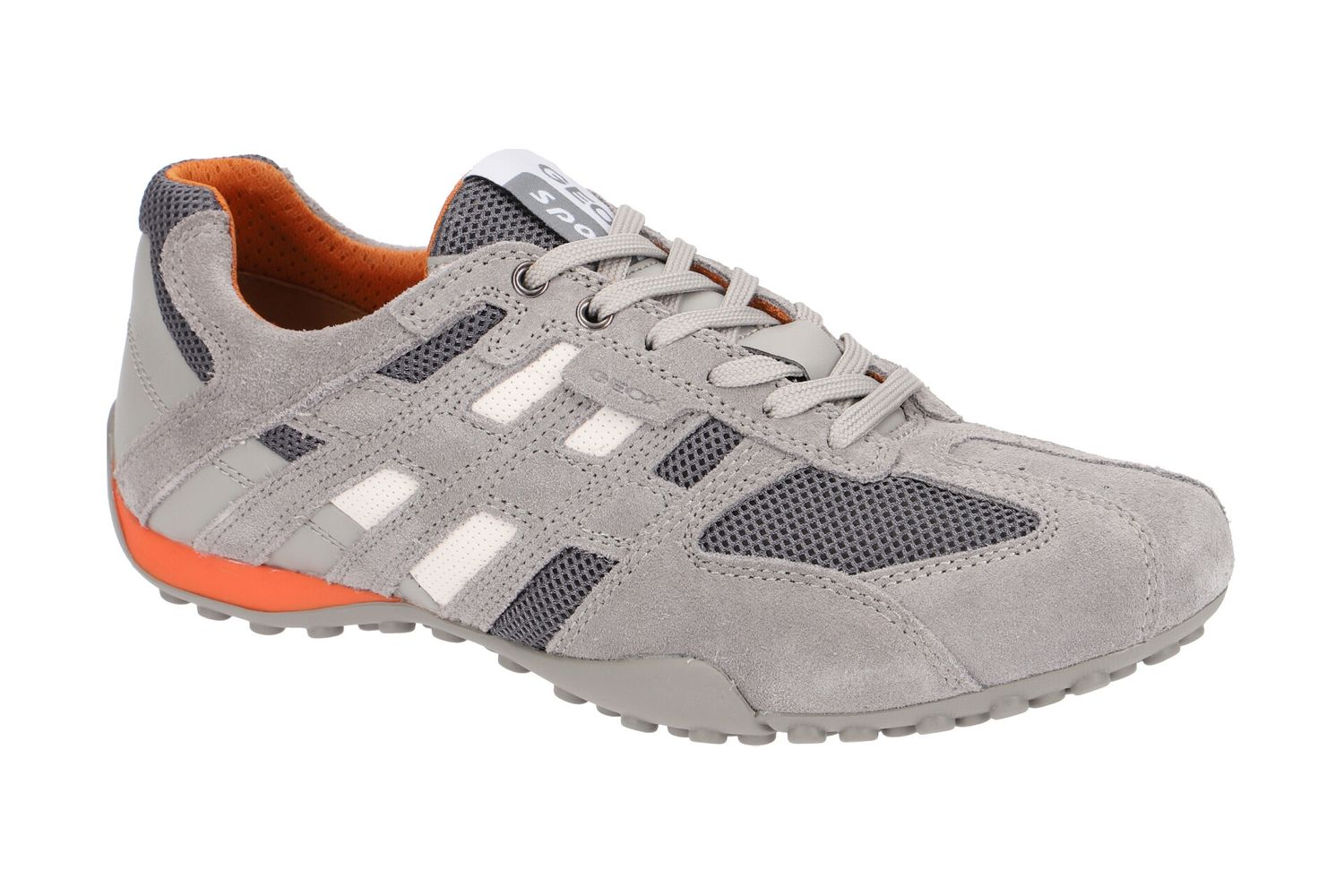 Details about Geox Respira Sports Snake K Men Sneakers Low Shoes U4207K Grey