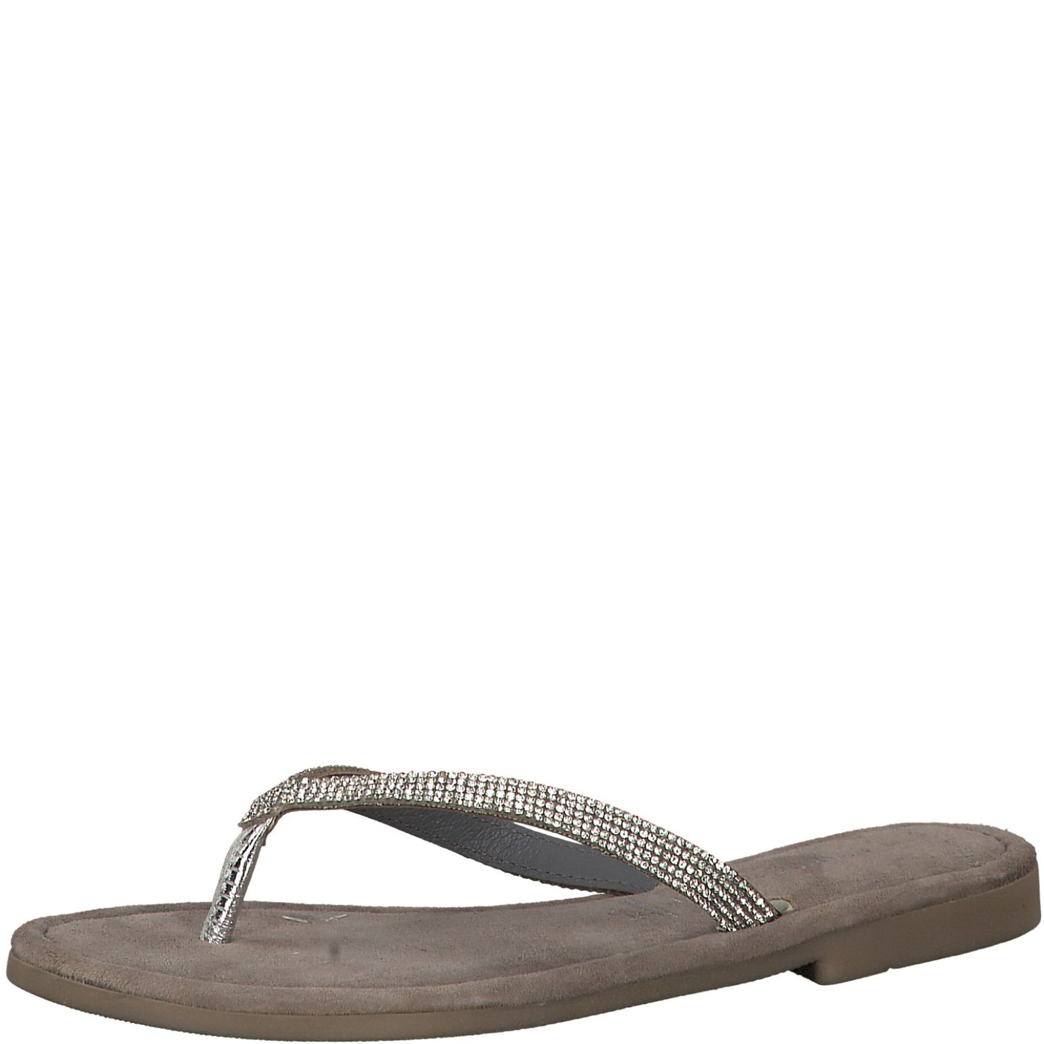 Details about Marco Tozzi Ladies 2 27113 22 T Clips Sandals Flip Flops High Heeled Silver