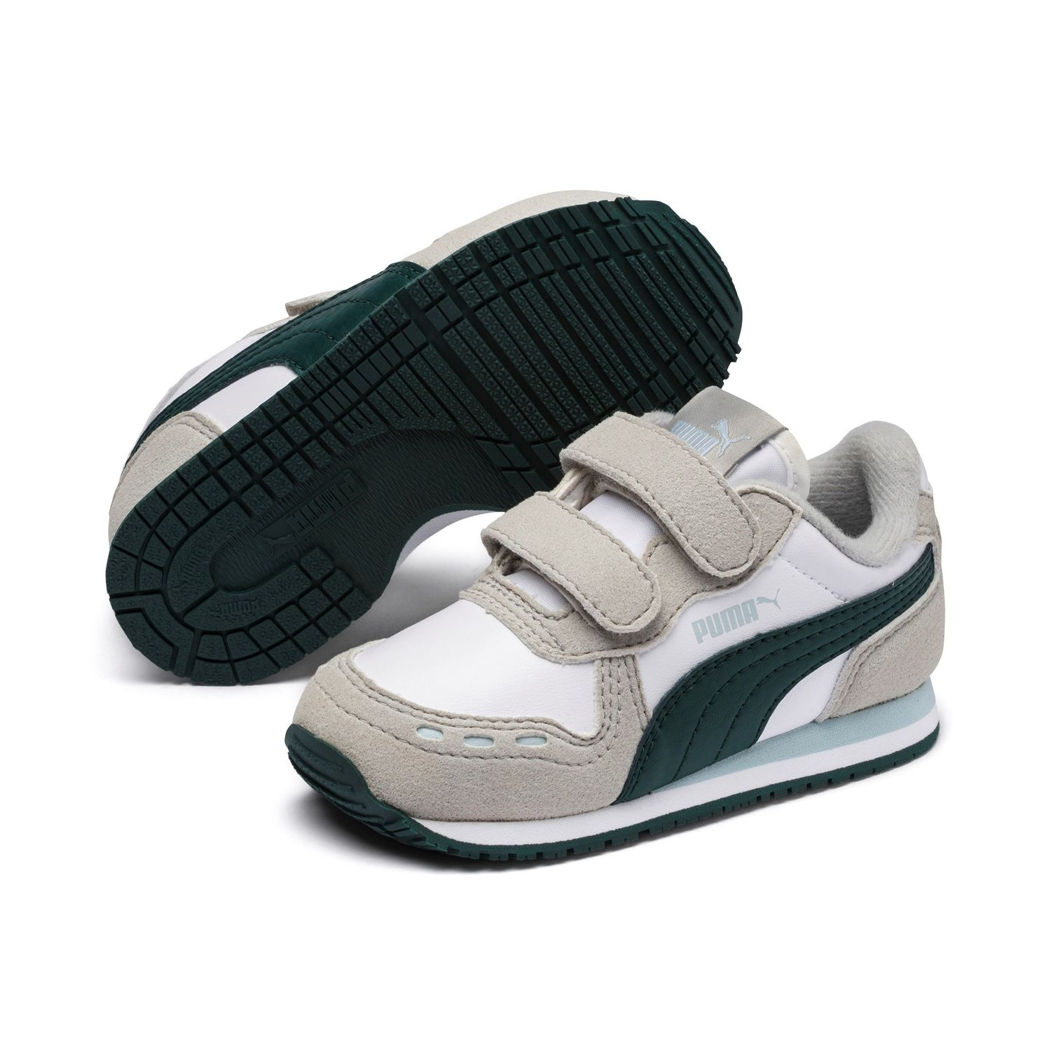Details about Puma Cabana Racer SL V Inf Children Shoes Sneaker 351980 White Green show original title