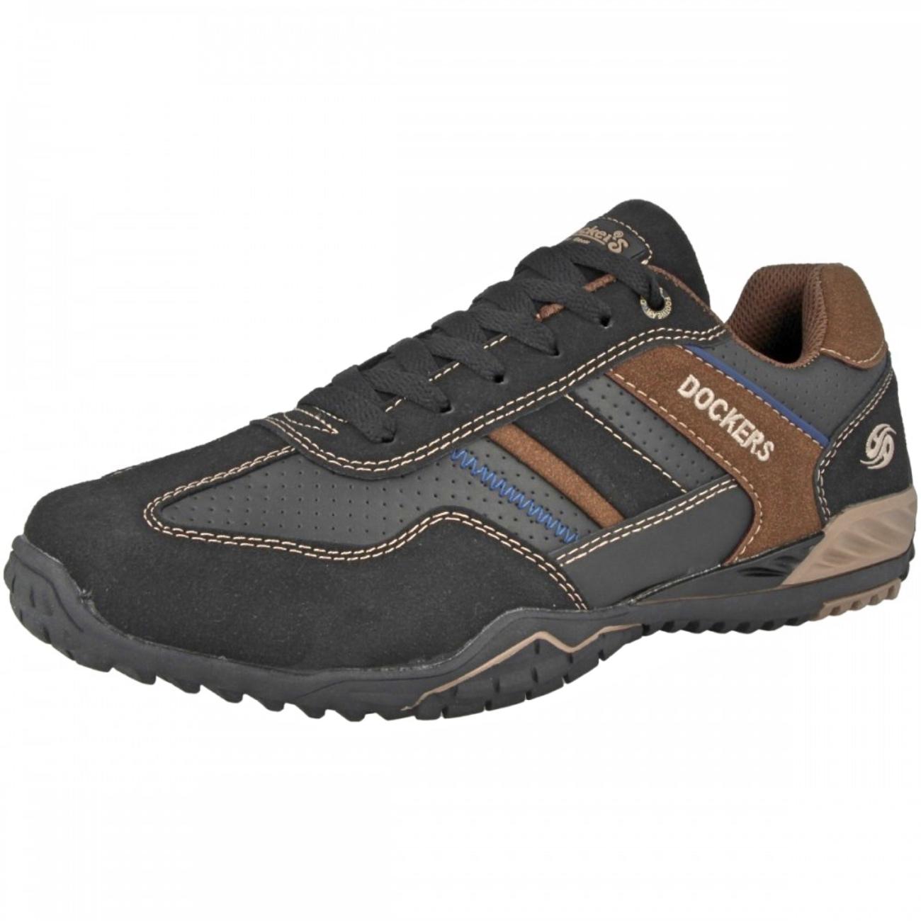 Dockers by Gerli 44NB001 Herren Sneakers Halbschuhe Schwarz