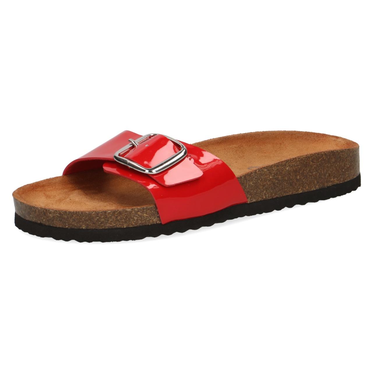 Details zu CAPRICE 9 27403 22 Damen Sandale Sandalette Pantolette Fußbett Rot SALE